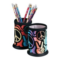 Peace Sign Velvet Art Pencil Holder Craft Kit (Pack of 12)