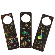 Scratch Door Hangers Craft Kit