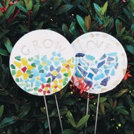 Mosaic Garden Stake Craft Kit