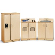 Jonti-Craft® Baltic Birch Culinary Creations 3-Piece Play Kitchen