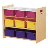 9-Tray Tote Storage Rack with Clear Trays