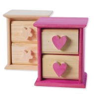 Unfinished Wood Mini Drawers (Set of 2)