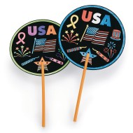 USA Fans Craft Kit (Pack of 48)