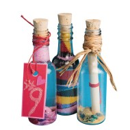 Plastic Sand Art Bottles with Cork
