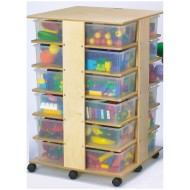 Jonti-Craft® 24-Cubbie Tower with Clear Tubs