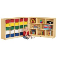 Jonti-Craft® 25-Tray Cubbie Fold-N-Lock Storage Unit
