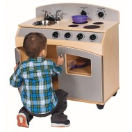 Contemporary 2-in-1 Play Kitchen