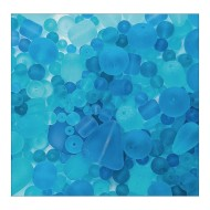 Sea Glass Bead Assortment, Ocean Wave