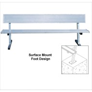 Jaypro® Surface Mount Bench, 7-1/2'