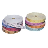 Single Roll Tickets - Blank , Yellow, Yellow