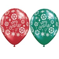 Merry Christmas Latex Balloons (Bag of 50)