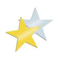 Decorative Foil Stars,  (Pack of 24)