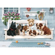 Porch Swing Buddies 35-Piece Tray Puzzle