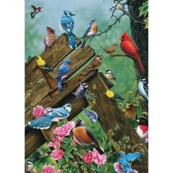 Wildbird Gathering 35-Piece Tray Puzzle