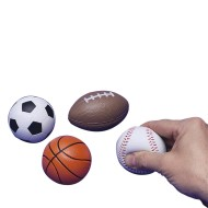 Sports Ball Themed Stress Balls (Pack of 12)
