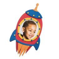 Blast Off Rocket Frame Craft Kit (Pack of 48)