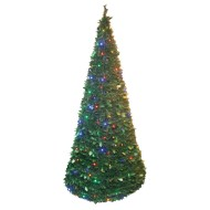 Pull-Up Christmas Tree w/ LED Lights, 6'