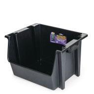 Large Nesting Stack Bin, Black