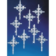 Crystal Beaded Cross Ornament Kit