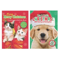 Puppies & Kittens Christmas Coloring Books ( of 12)