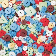 Assorted Craft Buttons 1/2-lb Bag