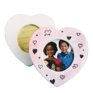 Color-Me™ Ceramic Bisque Heart Frame (Pack of 24)