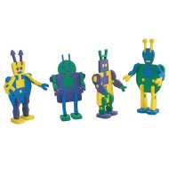 Super Foam Alien Robots Craft Kit (Pack of 12)