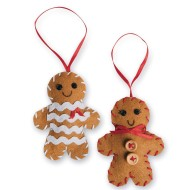 Stitched Gingerbread Ornaments (Pack of 12)