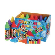 Bubbles with Crayon-Shaped Bottle (Pack of 24)