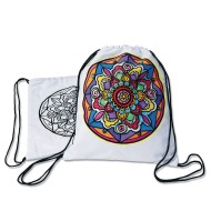 Velvet Art Mandala Backpack