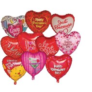 Mylar Valentine Balloon Assortment, 18