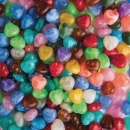 Heart Bead Assortment, 1/2-lb Bag