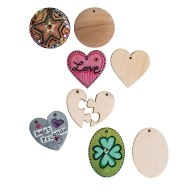 Wood Pendants,  (Pack of 50)