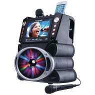 "DVD/CDG/MP3G Karaoke Machine with 7"" TFT Color Screen, Record, Bluetooth, and LED Sync Lights"