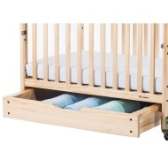 EZ Store™ crib drawer with MagnaSafe™ Latching System