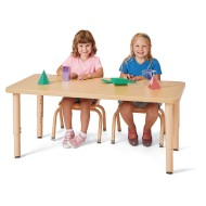 "Jonti Craft® Purpose +™ Large Rectangle Activity Table, 48"" x 24"" with Adjustable Legs"
