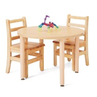 "Jonti Craft® Purpose +™ Round Activity Table, 30"" with Adjustable Legs"