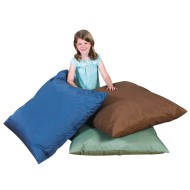 The Children's Factory Cozy Woodland Dark Tone Floor Pillows (Set of 3)