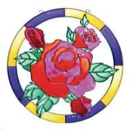 Open Back Sun Catcher - Rose,  11