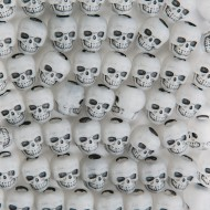 Glow-in-the-Dark Skull Beads 1/4-lb Bag