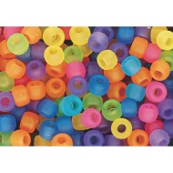 Pony Bead Mix, Matte Transparent