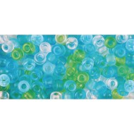 Sea Glass-Look Pony Bead Mix