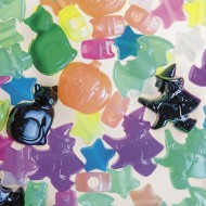 Halloween Glow Bead Assortment 1/2-lb Bag