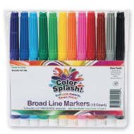 Color Splash!® Broad Line Markers (Pack of 12)