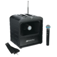 AmpliVox® Mega Hailer PA System with Handheld Wireless Microphone