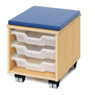 Whitney Brothers® Teacher Mobile Stool with Storage Drawer