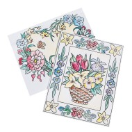Easy Way Pictures Craft Kit: Floral Designs (Pack of 24)