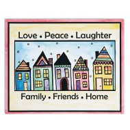Easy Way Pictures Craft Kit: Love, Peace, Laughter (Pack of 24)