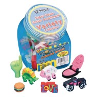 Variety Erasers (Set of 25)