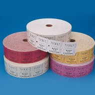 Double Roll Tickets - Assorted Colors, Assorted